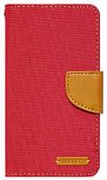 "Чехол книжка универсальная 4.0"" Goospery Canvas Diary Красная"