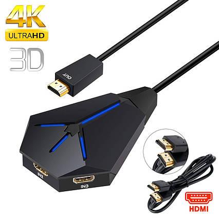 Cплиттер-разветвитель-хаб с 1 порта HDMI на 3 порта HDMI, фото 2