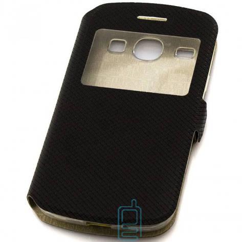 Чехол-книжка Modern 1 окно Samsung Core i8262 черный, фото 2