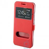 Чехол-книжка Nillkin 2 окна Samsung J5 Prime G570 красный