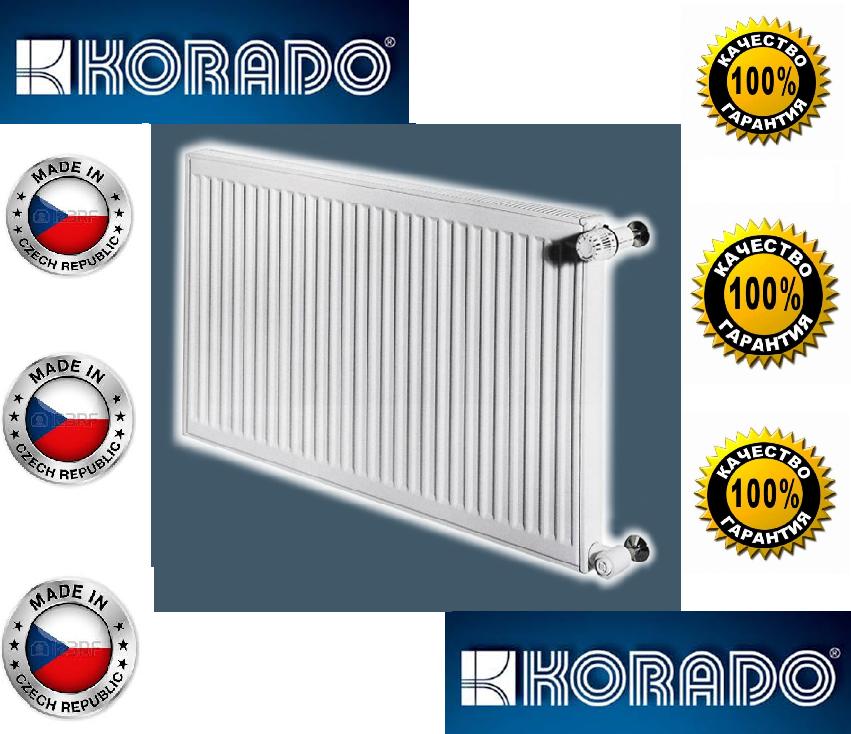 Стальной Радиатор отопления (батарея) 500x1000 тип 22 Korado Radik (боковое подключение)
