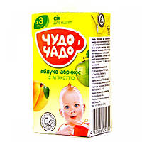Сок для немовлят аблоко-абрикос 200гр Чудо-Чадо Украина