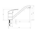 Кухонный смеситель Deante PEPE BDP 260M графит, фото 2