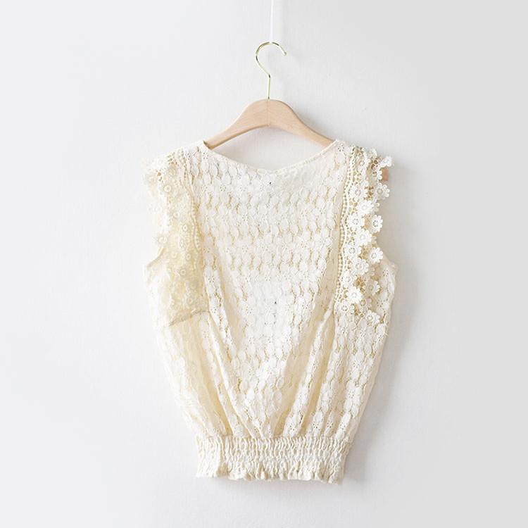 Нежная гипюровая блуза-топ 44 (в расцветках)