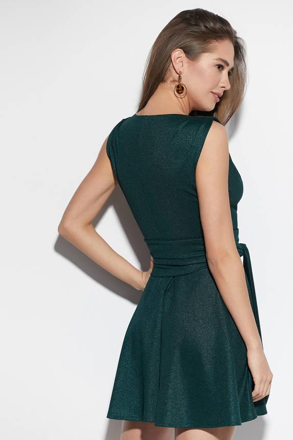 Платье мини коктейльное зеленое, фото 2