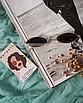 Солнцезащитные очки женские черные овальные стеклянные узкие, фото 2
