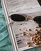 Солнцезащитные очки женские черные овальные стеклянные узкие, фото 3