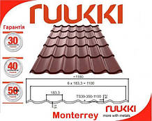 "Покрівля ""RUUKKI - monterrey"" каталог металочерепиці"