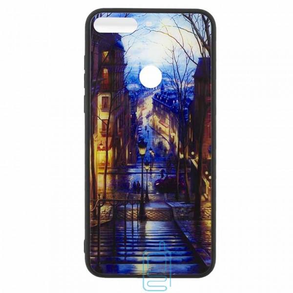 Чехол накладка Glass Case New Huawei Honor 7C Pro. Nova 2 Lite. Y7 2018. Y7 Prime 2018 лестница