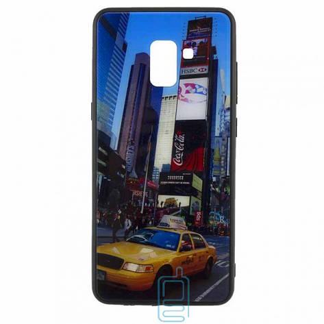 Чехол накладка Glass Case New Samsung J6 2018 J600 такси, фото 2