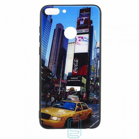Чехол накладка Glass Case New Huawei P Smart такси, фото 2