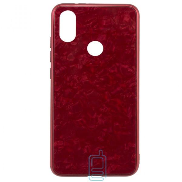Чехол накладка Glass Case Мрамор Xiaomi Mi6X. Mi A2 красный