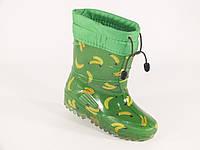 """Резиновые сапоги детские Verona """"Бананы на зеленом"""""""