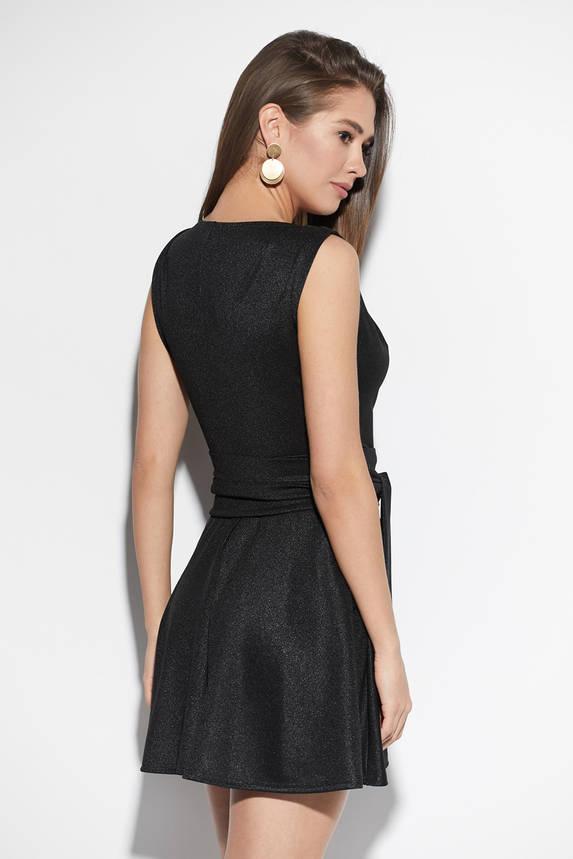 Черное платье мини коктейльное, фото 2