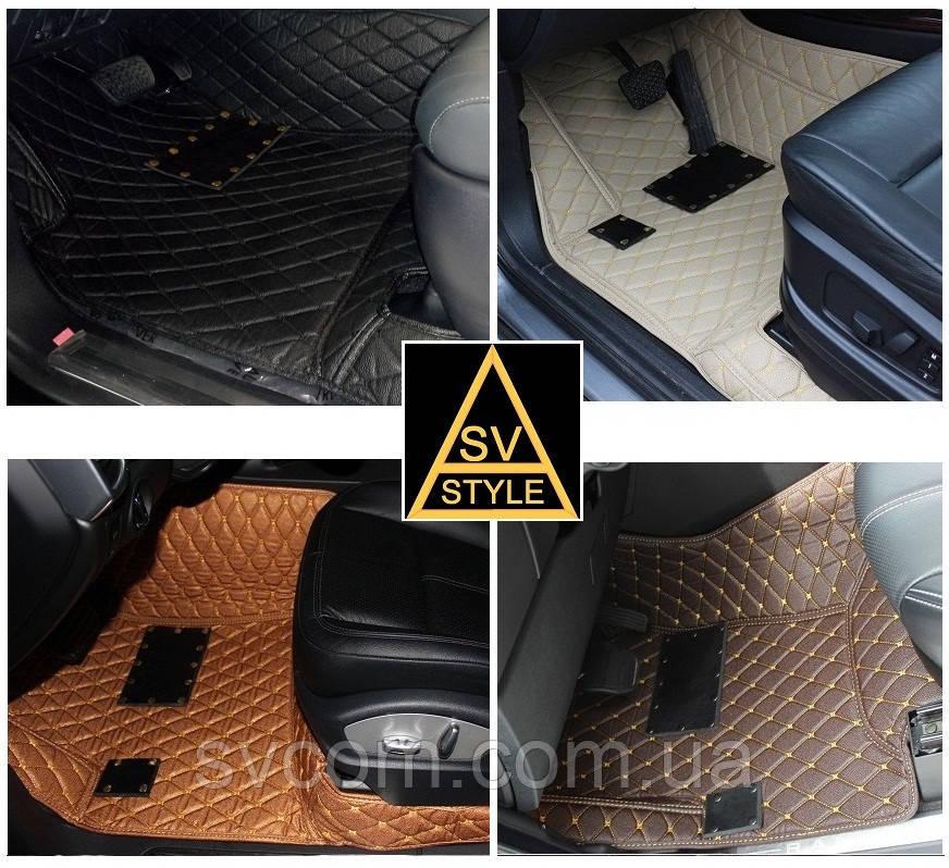 Коврики на Audi Q7 Кожаные 3D (2015-2019)