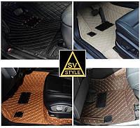 Коврики на Audi Q7 Кожаные 3D (2015-2019), фото 1