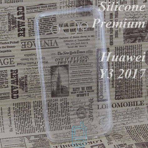 Чехол силиконовый Premium Huawei Y3 2017. Y3 2018 прозрачный, фото 2