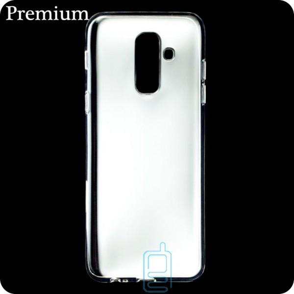 Чехол силиконовый Premium Samsung A6 Plus 2018 A605 прозрачный