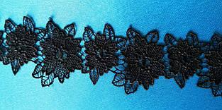 Кружево ажурное 4.5 см, цвет черный, Тайвань, XG06