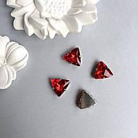 Стразы треугольник 18 мм. Цвет: Red (красный)