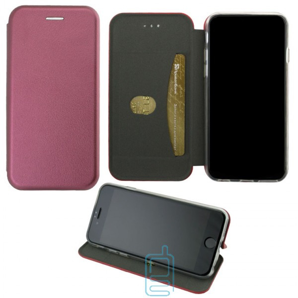 Чехол-книжка Elite Case Apple iPhone 7 Plus. 8 Plus бордовый