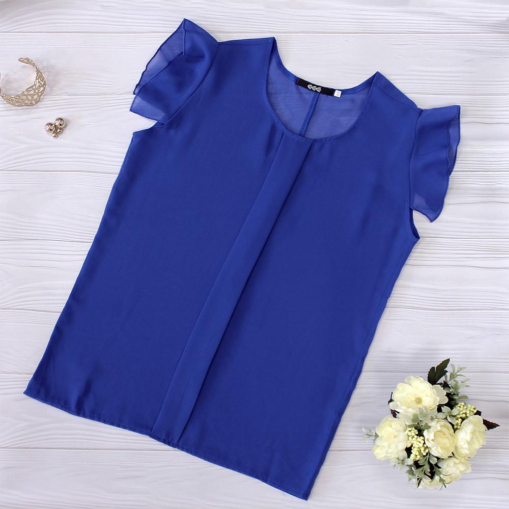 a8c67960e6b Ярко-синяя шифоновая блузка - RUSH STORE интернет-магазин женской одежды в  Николаеве