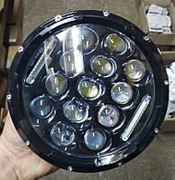 Светодиодная фара LED 7дюймов линза CREE+DRL на УАЗ, Нива, ВАЗ 2101-2102, Wrangler, Patrol, Land Rover, Гелик