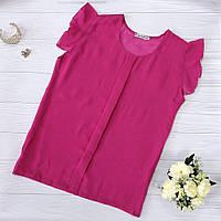 Малиновая шифоновая блузка, фото 1