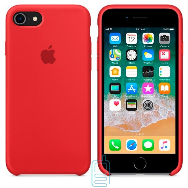 Чехол Silicone Case Apple iPhone 7. 8 красный 14