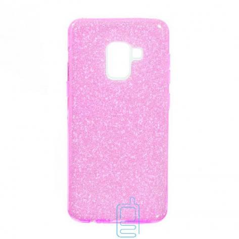 Чехол силиконовый Shine Samsung A8 2018 A530 розовый, фото 2