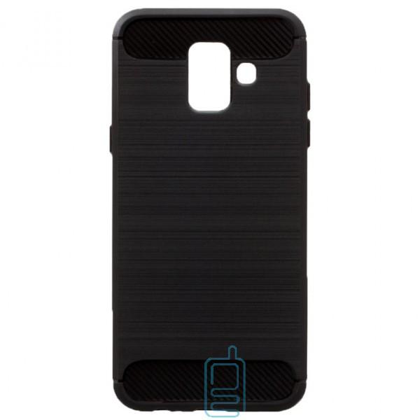Чехол силиконовый Polished Carbon Samsung A6 2018 A600 черный