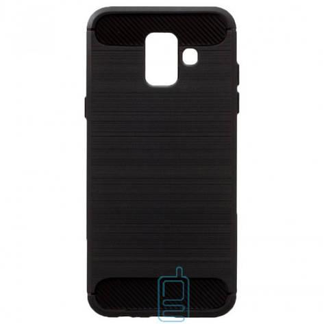 Чехол силиконовый Polished Carbon Samsung A6 2018 A600 черный, фото 2
