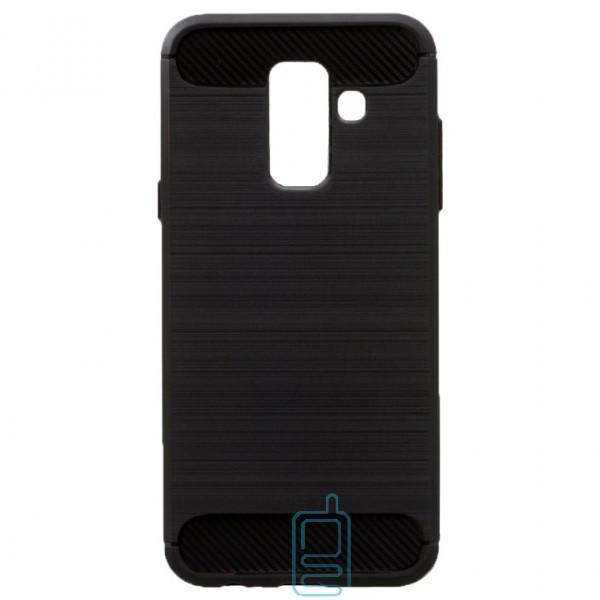 Чехол силиконовый Polished Carbon Samsung A6 Plus 2018 A605 черный