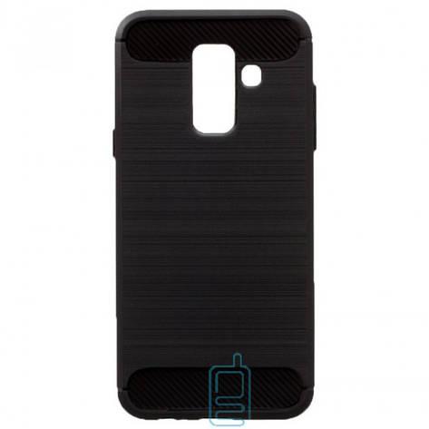 Чехол силиконовый Polished Carbon Samsung A6 Plus 2018 A605 черный, фото 2
