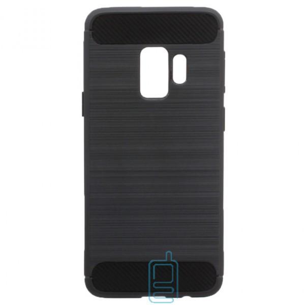 Чехол силиконовый Polished Carbon Samsung S9 G960 черный
