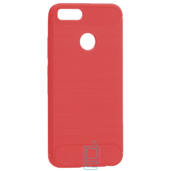 Чехол силиконовый Polished Carbon Xiaomi Mi5x. Mi A1 красный