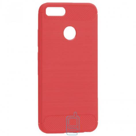 Чехол силиконовый Polished Carbon Xiaomi Mi5x. Mi A1 красный, фото 2