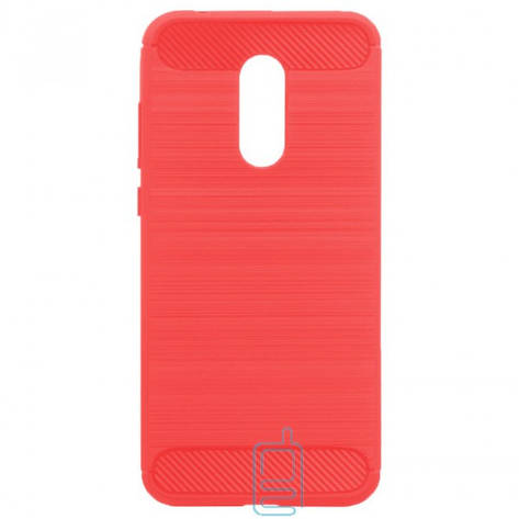 Чехол силиконовый Polished Carbon Xiaomi Redmi 5 красный, фото 2