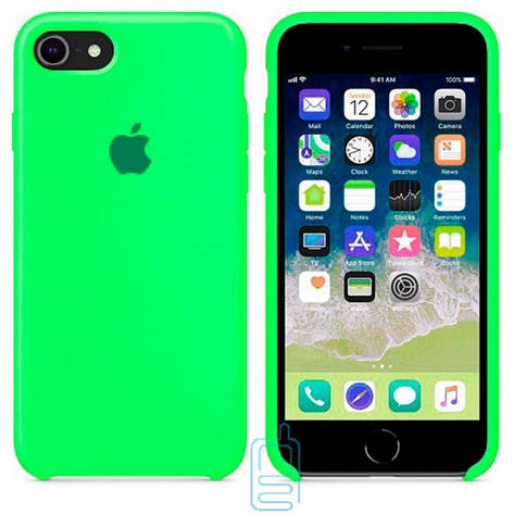 Чехол Silicone Case Apple iPhone 6. 6S ярко-зеленый 40, фото 2