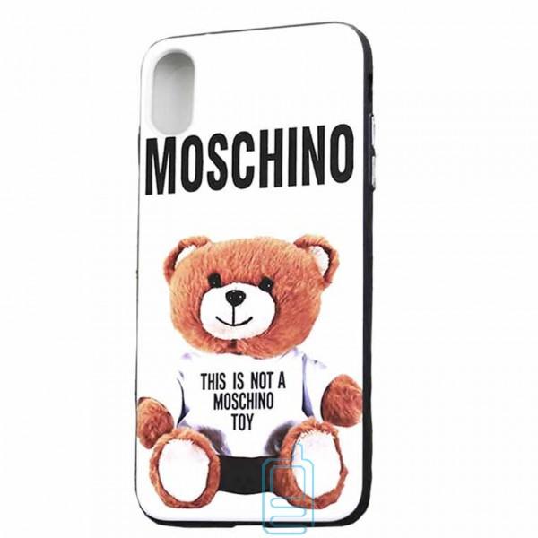 Чехол Creative TPU+PC Apple iPhone X. XS Moschino white
