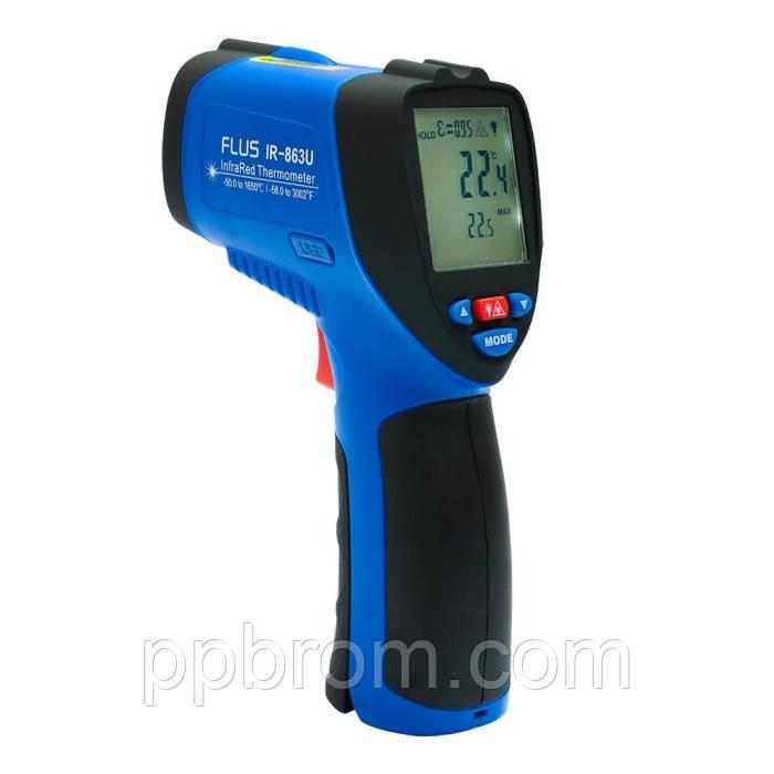 """Пирометр-регистратор Flus """"IR-863U"""" (-50...1650°C, 50:1, 0.1-1)"""