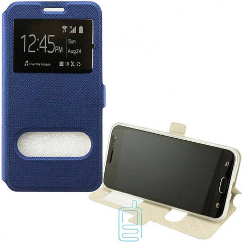 Чехол-книжка Modern 2 окна Huawei P20 синий, фото 2