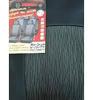 Чехлы сидения Mersedes Sprinter/ VW Crafter 2006- Бус 2+1 (подголовники, 1 подлокотник) ткань черная