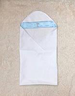 """Пеленка крестильная """"Ангел"""" белая с голубым, фото 1"""