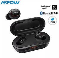 TWS Bluetooth гарнитура MPOW T5   , APTX Ipx7 Bt 5.0  беспроводные наушники, альтернатива Funcl Ai