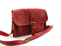 Женская кожаная сумка GS красная