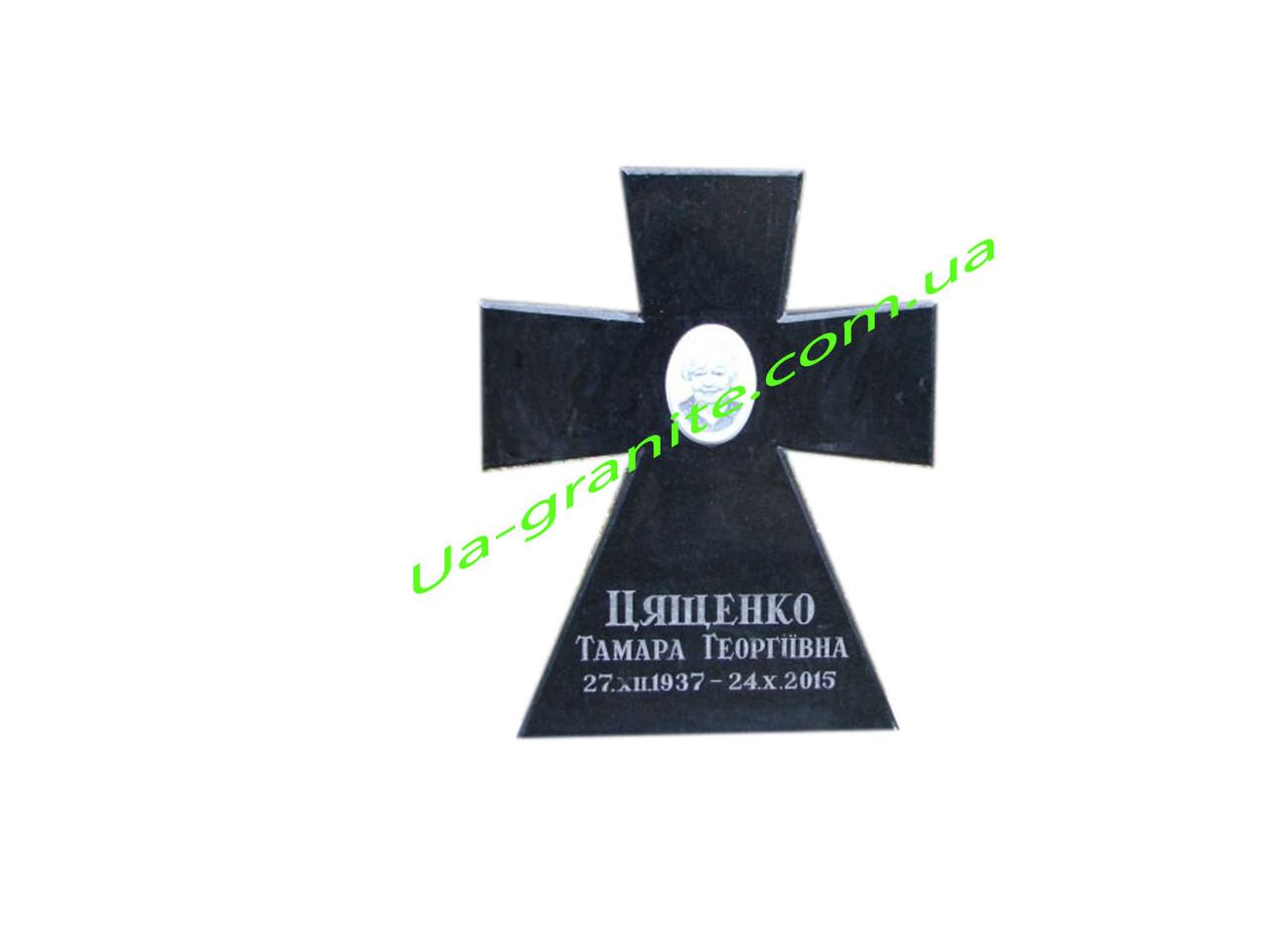 Козацький хрест із граніту на могилу