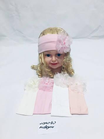 Повязка детская для девочки Цветочек оптом, фото 2
