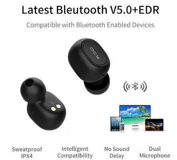 TWS Гарнітура bluetooth стерео QCY QS1 (T1C) ORIGINAL безпровідні навушники