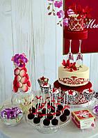Свадебный торт в винном цвете Марсал. Хит свадебного сезона 2015!, фото 1